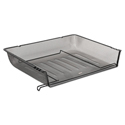 Nestable Mesh Stacking Side Load Letter Tray, Wire, Black