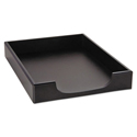 Wood Tones Letter Desk Tray, Wood, Black