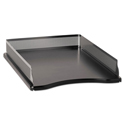 Distinctions Self-Stacking Letter Desk Tray, Metal/black