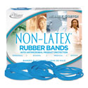 Antimicrobial Non-Latex Rubber Bands, Sz. 117B, 7 x 1/8, .25lb Box
