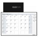 Recycled Ruled 14-Month Planner, Leatherette Cover, 7x10, Black, 2016-2018