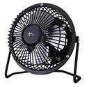 "Mini Personal Cooling Fan, 4"", Steel, Black"