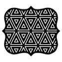 Designer Mouse Pads, Geometric Triangles, 9 x 8 x 16""