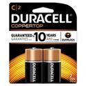 CopperTop Alkaline Batteries with Duralock Power Preserve Technology, C, 2/Pk
