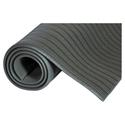 Ribbed Vinyl Anti-Fatigue Mat, 24 x 36, Gray