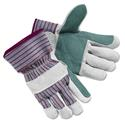 Economy Leather Palm Gloves, X-Large, Striped, Pair