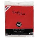 "Plastic Tablecovers, 82"" Round, Real Red"