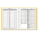 Bookkeeping Record, Tan Vinyl Cover, 128 Pages, 8 1/2 x 11 Pages