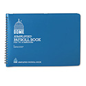 Simplified Payroll Record, Light Blue Vinyl Cover, 7 1/2 x 10 1/2 Pages