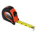 "Sheffield Extramark Tape Measure, Red With Black Rubber Grip, 1"" X 25 Ft"