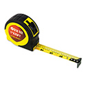 "ExtraMark Power Tape, 1"" x 25ft, Steel, Yellow/Black"