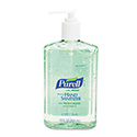 Advanced Instant Hand Sanitizer w/Aloe, 12oz Pump Bottle