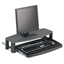 Over/Under Keyboard Drawer with SmartFit System, 14-1/2w x 23d, Black