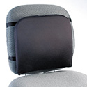 "Memory Foam Backrest, 16""w x 12""d x 16""h, Black"