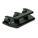 "20-Sheet Three-Hole Punch, Oversized Handle, 9/32"" Holes, Steel, Black"