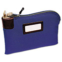 Seven-Pin Security/night Deposit Bag, Two Keys, Cotton Duck, 11 X 8 1/2, Blue