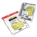 Tamper-Evident Deposit/Cash Bags, Plastic, 12 x 16, Clear, 100 Bags/Box