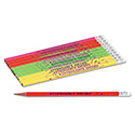 Decorated Wood Pencil, Attendance Award, Hb #2, Assorted Colors, Dozen