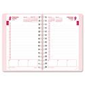 Pink Ribbon Essential Daily Appointment Book, 30-Min, 5 x 8, Pink, 2018