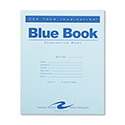 Exam Blue Book, Legal Rule, 8 1/2 x 7, White, 4 Sheets/8 Pages