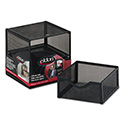 Organization Two-Drawer Cube, Wire Mesh, Storage, 6 X 6 X 6, Black