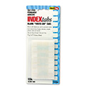 Side-Mount Self-Stick Plastic Index Tabs, 1 inch, White, 104/Pack
