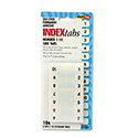 Side-Mount Self-Stick Plastic Index Tabs Nos 1-10, 1 inch, White, 104/Pack