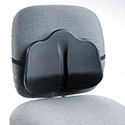 Softspot Low Profile Backrest, 13-1/2w X 3d X 11h, Black
