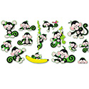 "Monkey Mischief ""Bananas"" Bulletin Board Set, 30 Pieces"