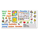 "Monthly Calendar (with Cling) Bulletin Board Set, 22"" x 17"""