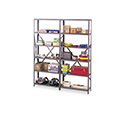 "Industrial Steel Shelving For 87"" High Posts, 48w X 24d, Medium Gray, 6/carton"
