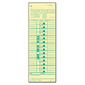 Time Card for Cincinnati/Simplex, Weekly, 3 1/2 x 10 1/2, 500/Box