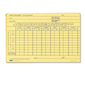 Employee Time Report Card, Weekly, 6 x 4, 100/Pack