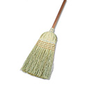 "Warehouse Broom, Yucca/Corn Fiber Bristles, 42"" Wood Handle, Natural"