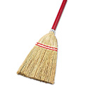 "Lobby/Toy Broom, Corn Fiber Bristles, 39"" Wood Handle, Red/Yellow"