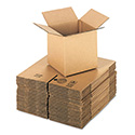 Brown Corrugated - Cubed Fixed-Depth Shipping Boxes, 8l x 8w x 8h, 25/Bundle