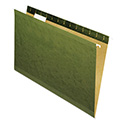 Reinforced Recycled Hanging Folder, 1/5 Cut, Legal, Standard Green, 25/Box