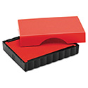 Trodat T4911 Message Replacement Pad, 9/16 X 1 1/2, Red